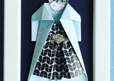 Cadre en origami