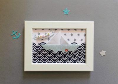Cadre origami naissance