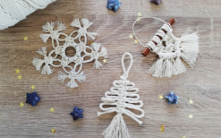 Venez fabriquer votre Trio de décoration de Noël