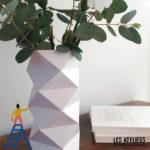 Fabrication d'un vase en Origami ** Radis et Capucine