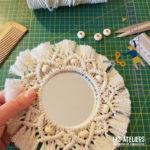 Fabrication miroir bohème en macramé ** Radis et Capucine