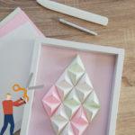 Fabrication d'un cadre en origami modulaire ** Radis et Capucine